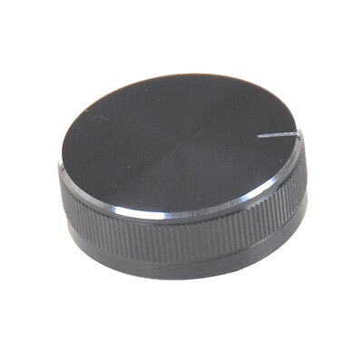 1PC Black Aluminum Volume Control Knob Amplifier Wheel 30*10mm PLUS
