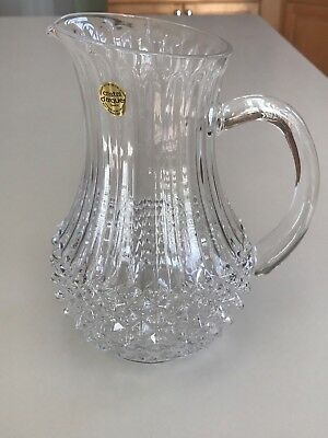 Beautiful Cristal D'Arques Crystal Longchamp 40 Ounce Pitcher (New in box)