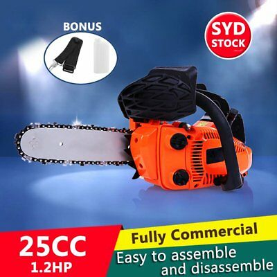 "NEW 25cc Commercial Petrol Chainsaw Bar Tree Pruning Garden 12"" Chain Saw AU HOT"