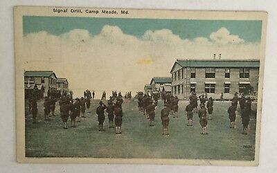 Vintage Postcard - Signal Drill, Camp Meade, Maryland