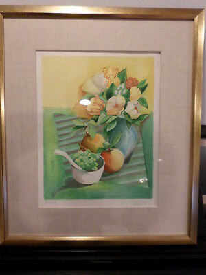 Beautiful Framed lithograph Numbered and Signed