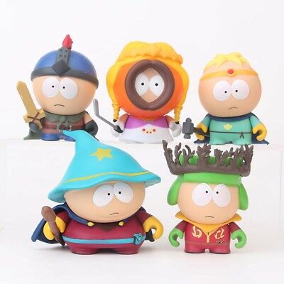 "NEW 5 pcs Characters South Park 2 Action 6cm or 2.4"" PVC Figures Dolls No Box"