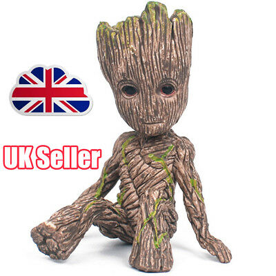 Guardians of The Galaxy Baby Groot Figure Flowerpot Pen Pot Toy Gifts 6CM YP
