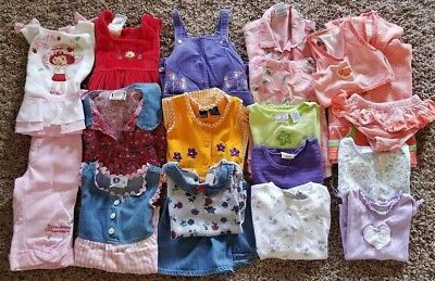 Lot of Girl's Clothes Size 2T - Summer Baby Guess, In Design Kids & More! Used