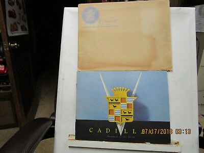 1946 Cadillac Large Color Sales Catalog And Envelope--Rare