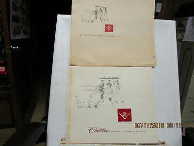 1950 Cadillac Large Color Sales Catalog And Envelope--Rare