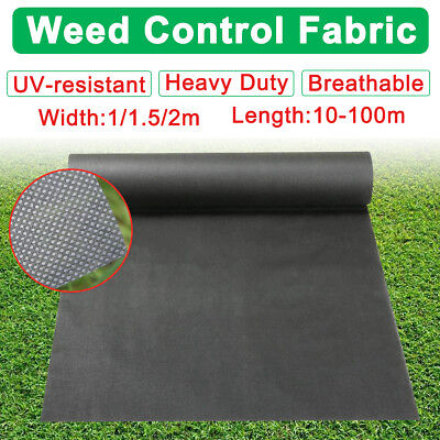 1/1.5/2m Wide Weed Control Fabric Membrane Mulch Landscape Garden Ground Cover