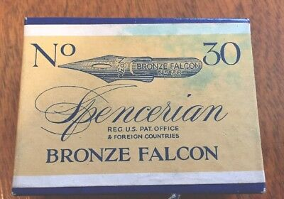 Spencerian Bronze Falcon Nibs #30          Gross(144) Sealed 1 Box