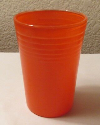 Vintage 1939 Red (Orange) Carnival Ware Swanky Swig Made for Fiesta Ware