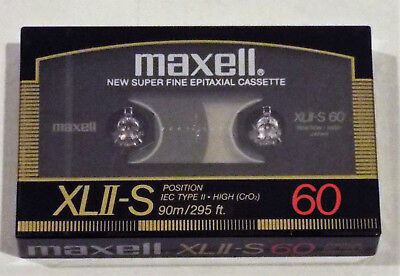 SEALED Vintage MAXELL XLII-S 60 Minute Blank Audio Cassette Tape Made in Japan