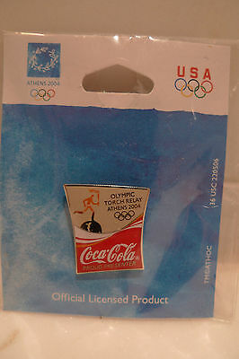 Athens 2004 Olympic Torch Relay Pin from Coca-Cola Coke New Olympic Pin