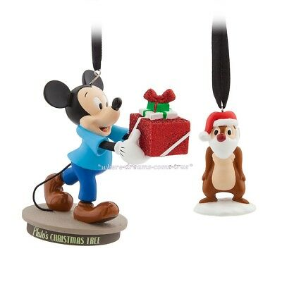 Mickey Mouse Through the Years Sketchbook Ornament Set Pluto's Christmas Tree
