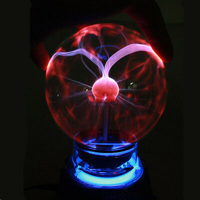 Music/Sound Sensored Plasma Ball Sphere Night Light Lamp Lighting Magic Lamp New
