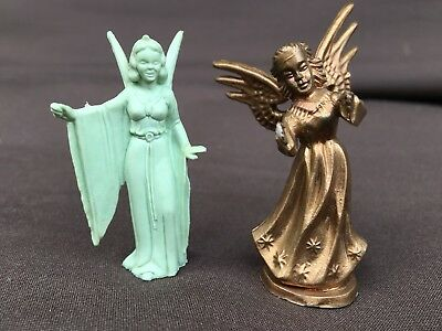 "Two Vintage Angel Figures (Miniatures 2"" in Height)"