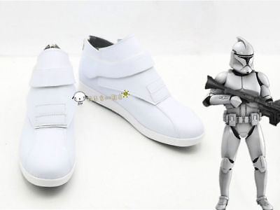 Free shipping NEW !Star wars clone troopers cosplay boots shoes costom made
