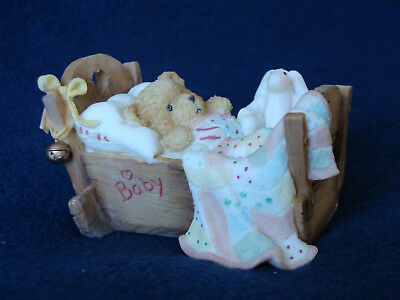 "Cherished Teddies - ""Cradled With Love"" - Baby Bear Figurine - 911356 - 1992"