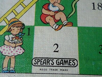 Vintage Retro Spears Games Snakes and Ladders Board  Boardgame