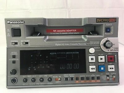 Panasonic AJ-HD1400P Digital HD Video Cassette Recorder AJ-HD1400 DVCPROHD Hours