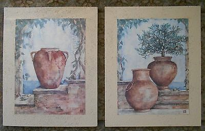 "Beautiful Wall Decor Hanging 20"" x 16"" Lot of 2 Ancient Greek Terracotta Pottery"