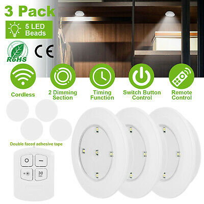 3//6//9X 5SMD LED Night Light Cordless Battery-Powered Cabinet Wall Remote Control
