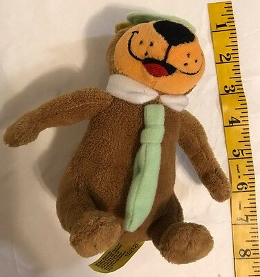 Hanna Barbera Yogi Bear Plush Stuffed Animal Toy Embroidered Eyes Green Hat