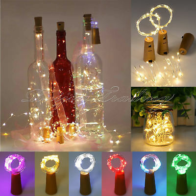 10/15/20LED Cork Shaped String Fairy Night Light Wine Bottle Lamp Battery 2018