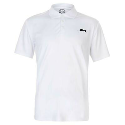 Slazenger Hombres Golf Solid Polo Shirt Mens Manga Corta