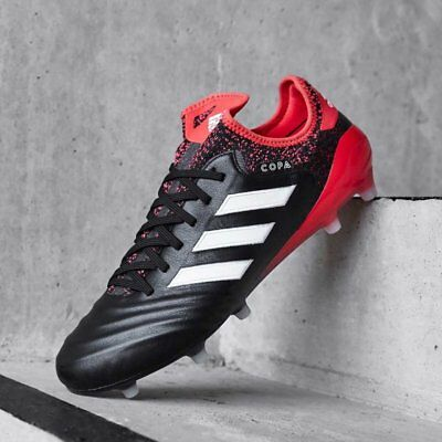 Adidas Copa 18.1 FG Soccer Football Boots- Black/Red
