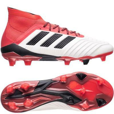 Adidas Predator 18.1 FGSoccer Football Boots- White/Red