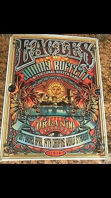 The Eagles & Jimmy Buffet Print From Orlando Florida 4-14-2018 Super Rare🌴🌴🌴