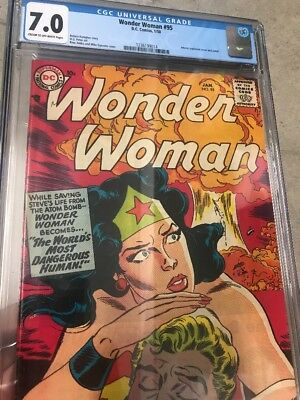Wonder Woman (1st Series DC) #95 1958 7.0 CGC Rare Book Awesome Cover