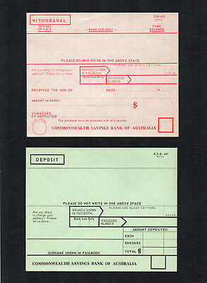 Commonwealth Savings Bank of Australia vintage 1973 old banking memorabilia slip