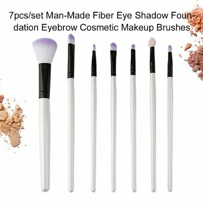 7pcs/set Man-Made Fiber Eye Shadow Foundation Eyebrow Cosmetic Makeup Brushes AZ