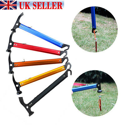 High-carbon Steel Shaft Mallet Hammer Tent Peg Stake Puller Camping Hiking