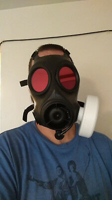 Cosplay/prop Gas Mask Filter, fits 40mm Gas Mask threads, 3D Printed