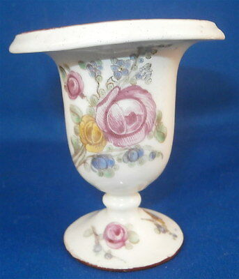 Rare 18thC French Mennecy Porcelain Polychrome Floral Vase Porzellan Flowers