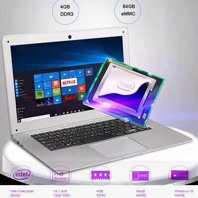 14 1 Jumper Ezbook 2 Intel 4 64gb Windows 10 Wifi Bt Pc Laptop