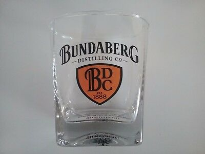 BUNDERBERG  -  COLLECTABLE  THICK  BASED  RUM   GLASS  with  Emblem VGC.