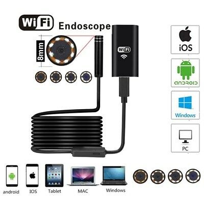 5M 8mm USB Endoscope Borescope Snake Inspection Camera Scope Fpr Android IOS