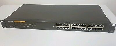 D-Link 24 Port Switch Fast Ethernet Unmanaged Rackmount DES-1024R+ W/ Open Slot