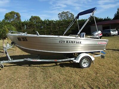 Stacer Rampage 429 with 30 hp mariner as new. Suit new buyer