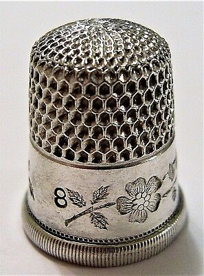 Beautiful Sterling Silver Thimble