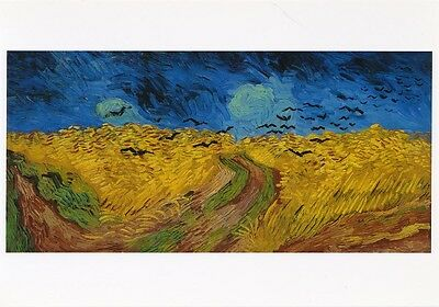 VINCENT VAN GOGH MUSEUM ART PRINT POSTCARD Wheatfield with Crows