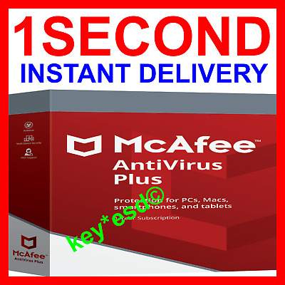 McAfee ANTIVIRUS Plus 2019 2018 Windows |+| 6 Months 1 PC |+| INSTANT DELIVERY