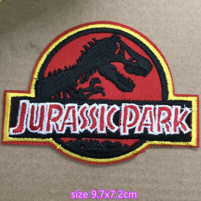 Jurassic Park Movie Logo Embroidered Iron or Sew-On Patch Dinosaur T-rex New d5690e7a30de
