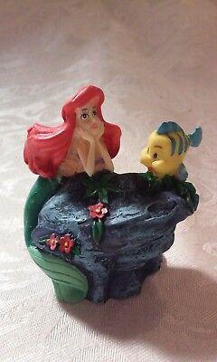 Disney, Ariel and Flounder, Resin Christmas Figurine