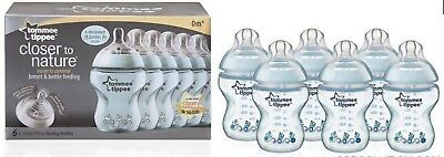 Closer to Nature BLUE six pack feeding bottle 260ml