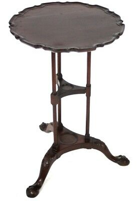 Antique Mahogany Wine Table with Ball and Claw Feet - FREE Shipping [PL4570]