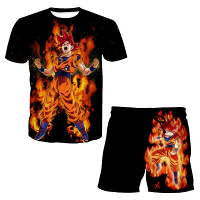Fashion Women//Men Dragon Ball Z GoKu Throne Funny 3D Print Casual T-Shirt FQ239