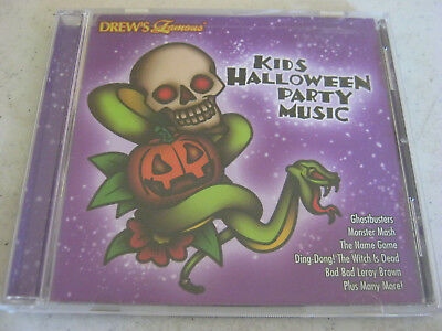 drews famous kids halloween party music cd free us shipping